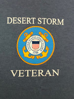 U.S. Coast Guard Desert Storm Veteran T-Shirt (blue)