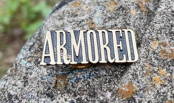 """Armored"" Lapel Pin"