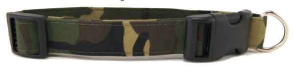 Woodland Camo Dog Collar (5 sizes)