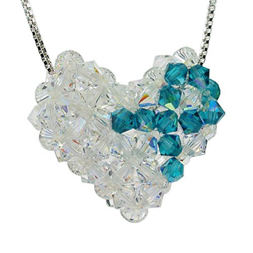 Sterling Silver And Swarovski Crystal Ovarian Cancer Awareness Woven P Sunchains Com
