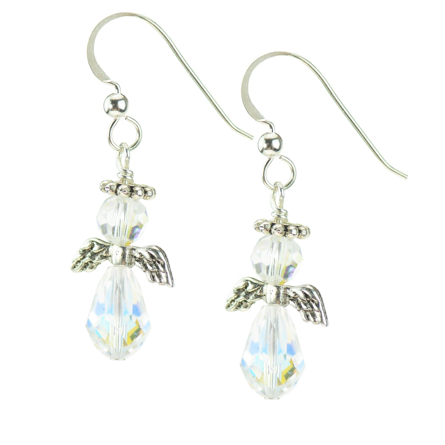 Swarovski Crystal Angel Earrings with Sterling Silver French wires ...