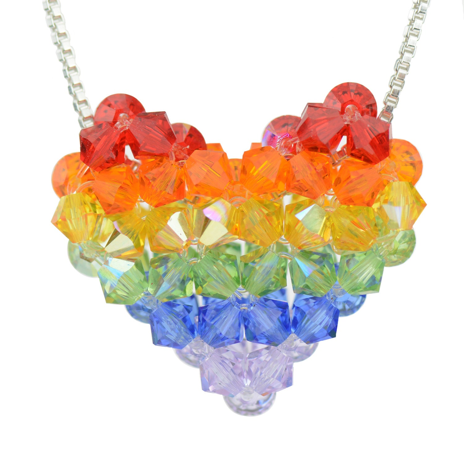 hipster on with original polymer beads luulla clay product cute rainbow necklace