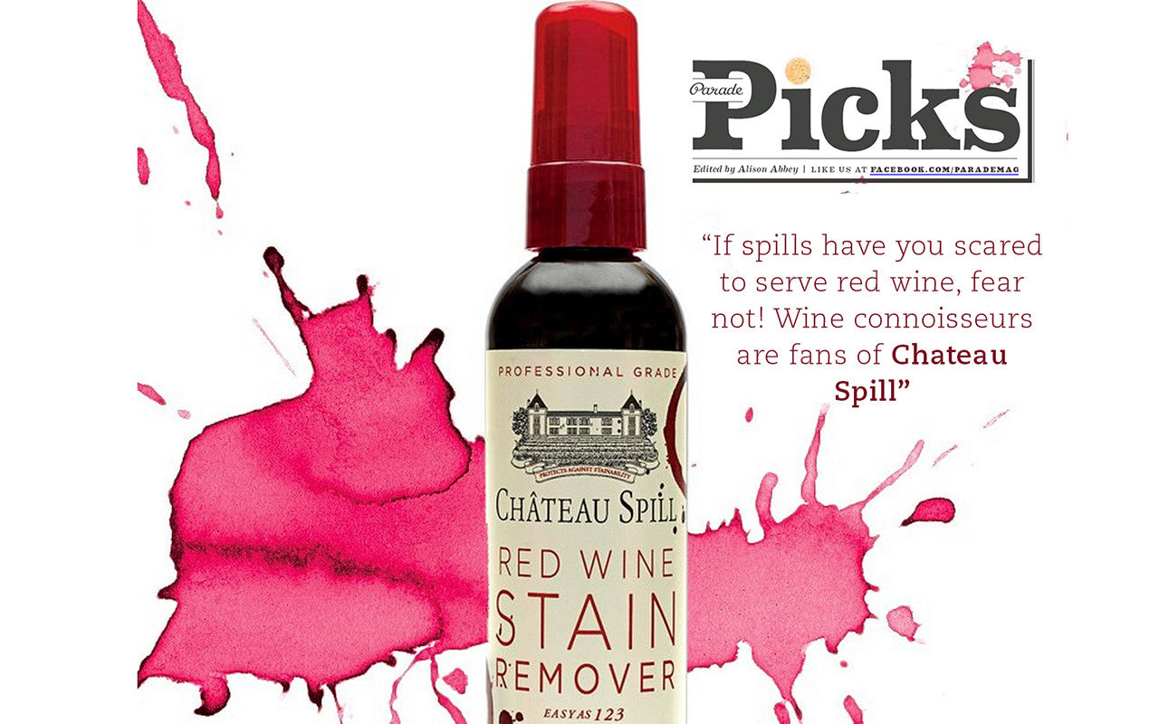 wine connoisseurs love chateau spill red wine emergency stain removal. Black Bedroom Furniture Sets. Home Design Ideas