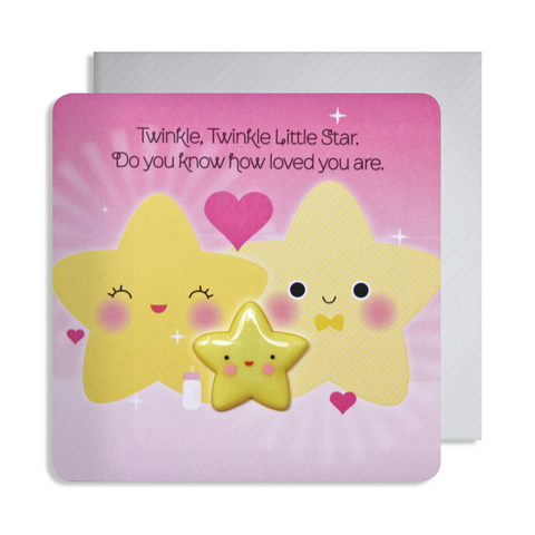 New Baby Star Magnet Card