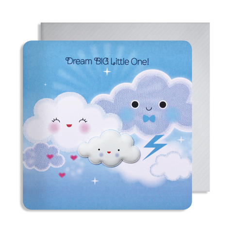 New Baby Cloud Magnet Card