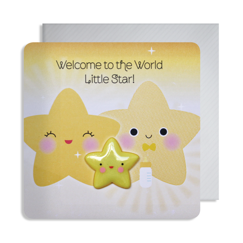 New Baby Little Star Magnet Card