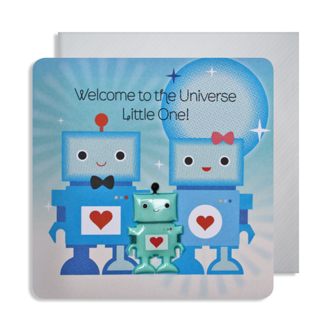 New Baby Robot Magnet Card