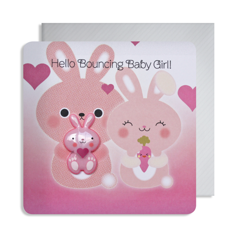 New Baby Rabbit Magnet Card
