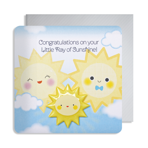 New Baby Sunshine Magnet Card