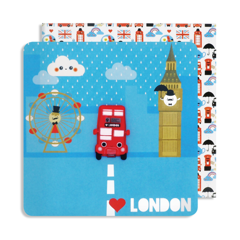 Magnet London Bus Card