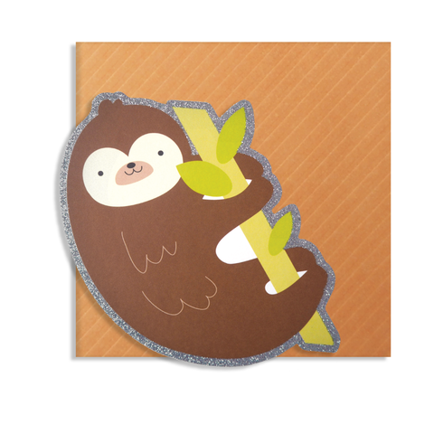 Cute Cut Sloth Card