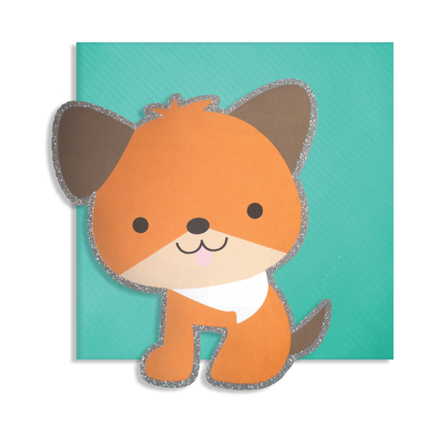 Cute Cut Dog Card