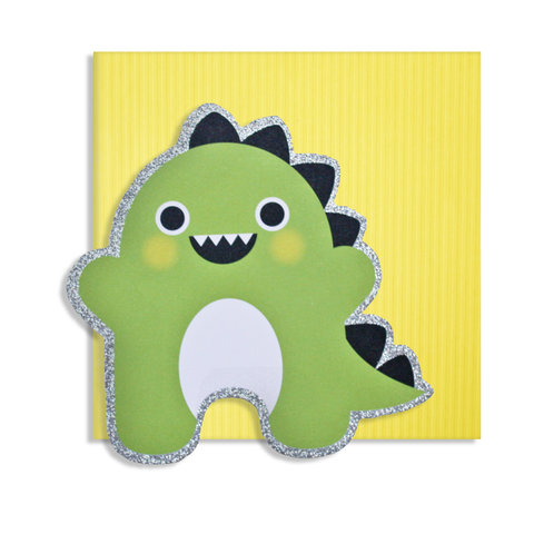 Cut Out Dinosaur Card