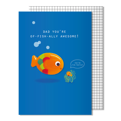 Father's Day Of-Fish-ally Awesome Card