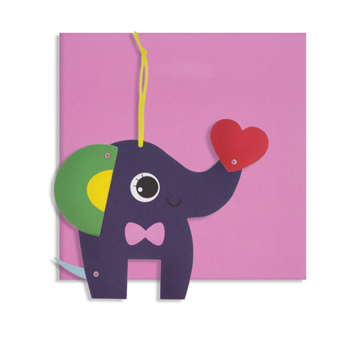 Everyday Moveable Elephant Card