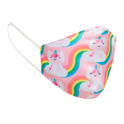 Kids Reusable Cloth Unicorn Face Mask