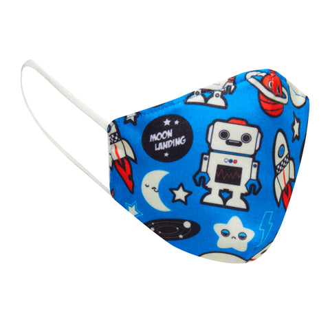 Children's Cloth Space Robot Face Mask