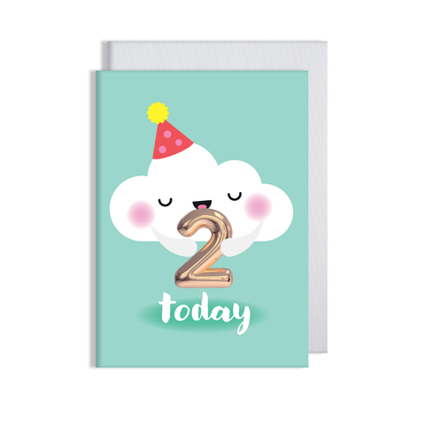 Helium 2 years Today Card