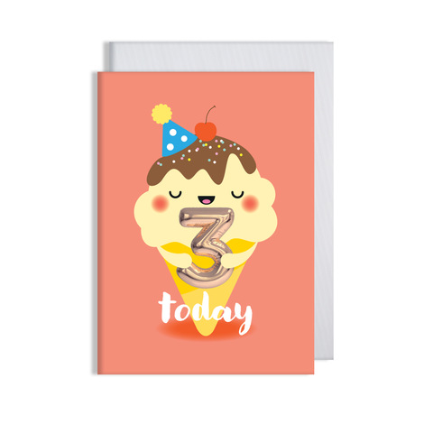 Helium 3 years Today Card