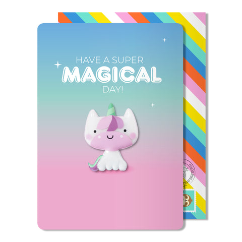 Magical Birthday Unicorn Magnet Card