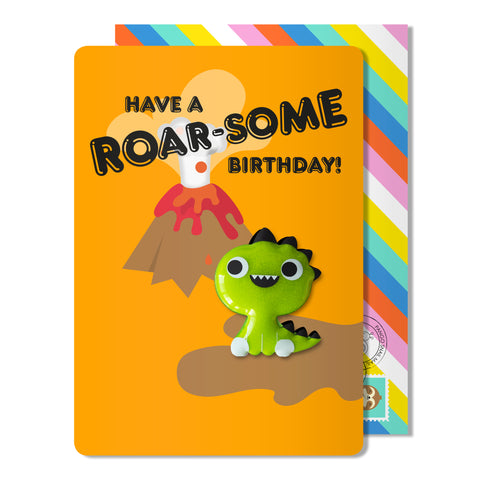 Birthday Dino Magnet Card