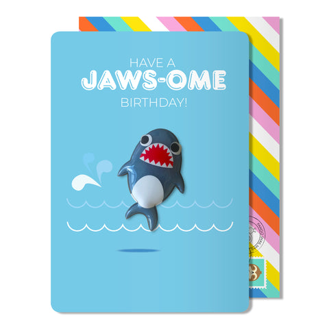 Jaws-ome Birthday Magnet Card