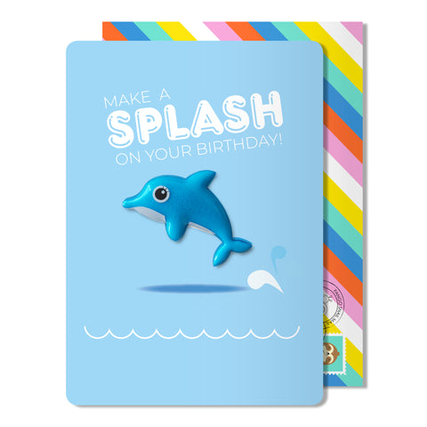 Birthday Dolphin Magnet Card