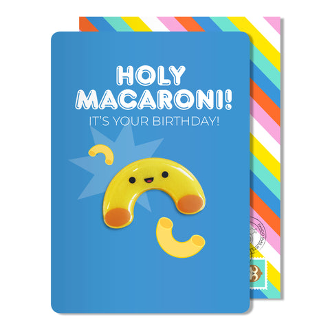 Holy Macaroni Birthday Magnet Card