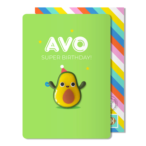 Avo super Birthday Magnet Card