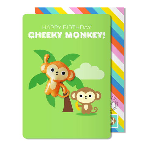 Birthday Monkey Magnet Card