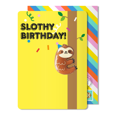 Birthday sloth Magnet Card