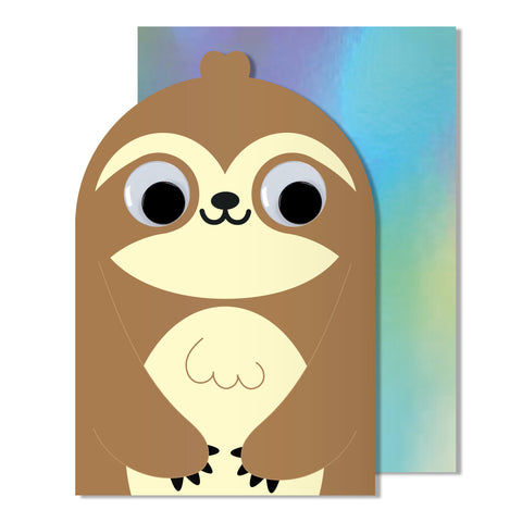 Googly Eye Sloth Card