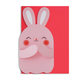 Hug Rabbit Card