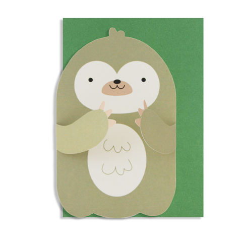 Hug Sloth Card