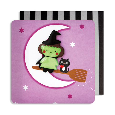 Halloween Witch Magnet Card