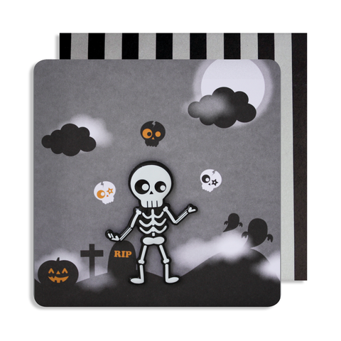 Halloween Skeleton Magnet Card