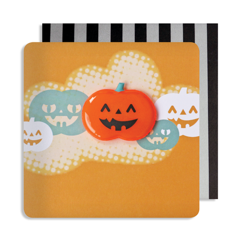 Halloween Pumpkin Magnet Card