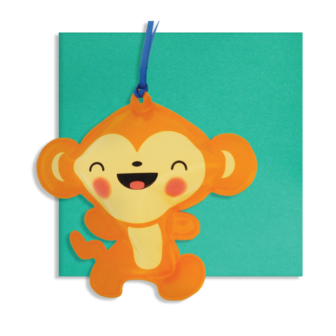 Inflatable Monkey Card
