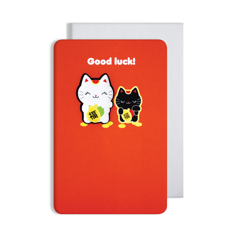 Jellies Good Luck Magnet Card
