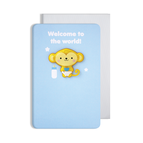Jellies Baby Boy Magnet Card