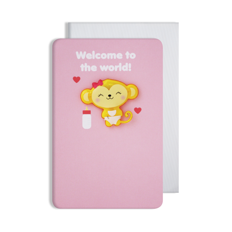 Jellies Baby Girl Magnet Card