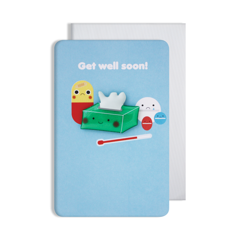 Jellies Get Well Soon Magnet Card