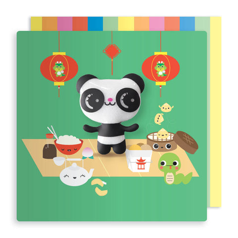 Jelly Mould Magnet Panda Card