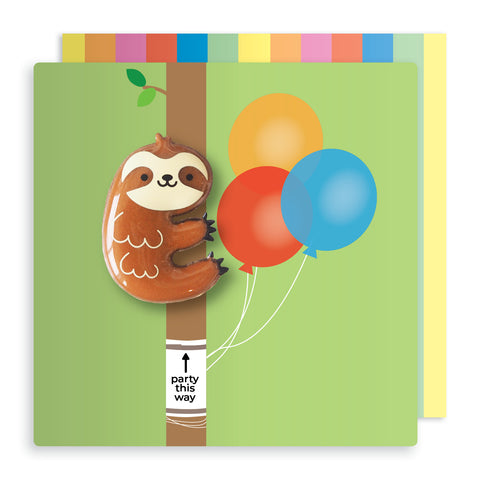 Jelly Mould Magnet Sloth Card