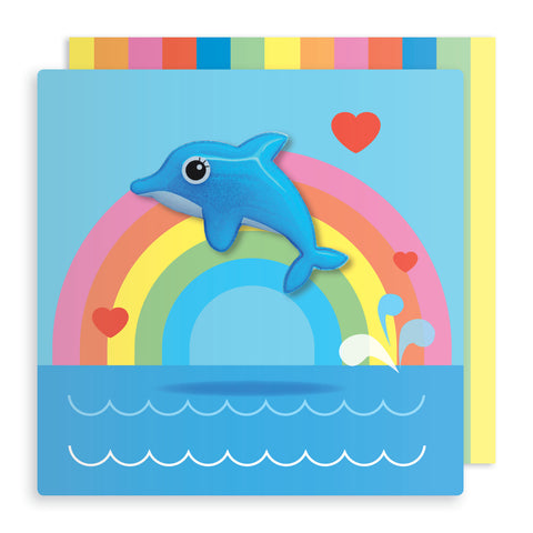 Jelly Mould Magnet Dolphin Card