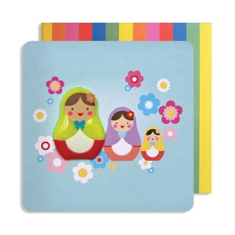 Jelly Mould Magnet Russian Doll Card
