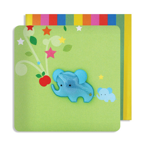 Jelly Mould Magnet Elephant Card