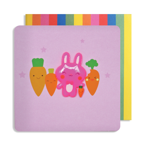 Jelly Mould Magnet Rabbit Card
