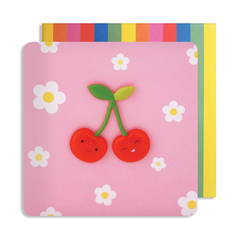 Jelly Mould Magnet Cherries Card