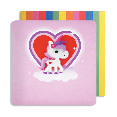 Jelly Mould Magnet Unicorn Card
